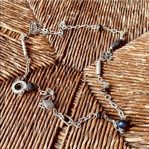 ✨✨ Silver Longline Mixed Chain and Bead Necklace ✨